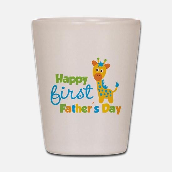 Giraffe 1st Fathers Day Shot Glass