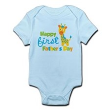 Giraffe 1st Fathers Day Infant Bodysuit