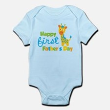Giraffe 1st Fathers Day Infant Bodysuit