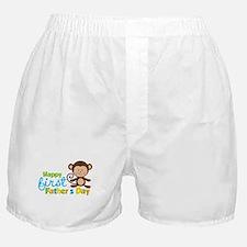 Boy Monkey Happy 1st Fathers Day Boxer Shorts