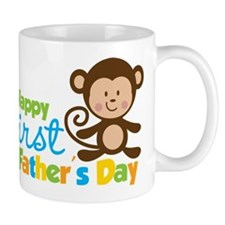 Boy Monkey Happy 1st Fathers Day Mug