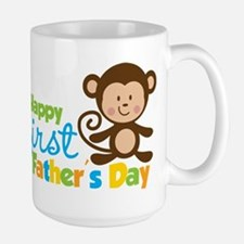 Boy Monkey Happy 1st Fathers Day Mug