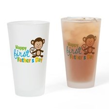 Boy Monkey Happy 1st Fathers Day Drinking Glass