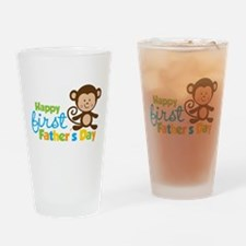 Boy Monkey Happy 1st Fathers Day Drinking Glass
