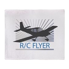 RC Flyer Low Wing Airplane Throw Blanket
