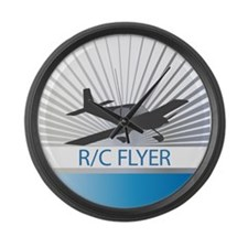 RC Flyer Low Wing Airplane Large Wall Clock