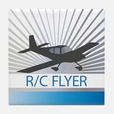 RC Flyer Low Wing Airplane Tile Coaster