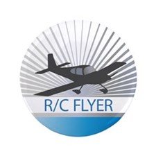 "RC Flyer Low Wing Airplane 3.5"" Button"