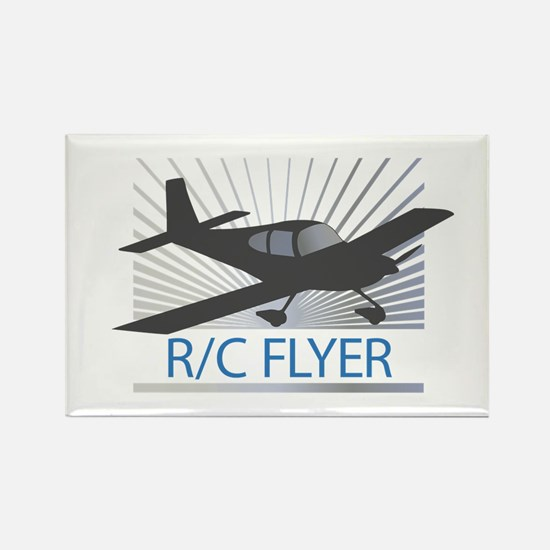 RC Flyer Low Wing Airplane Rectangle Magnet