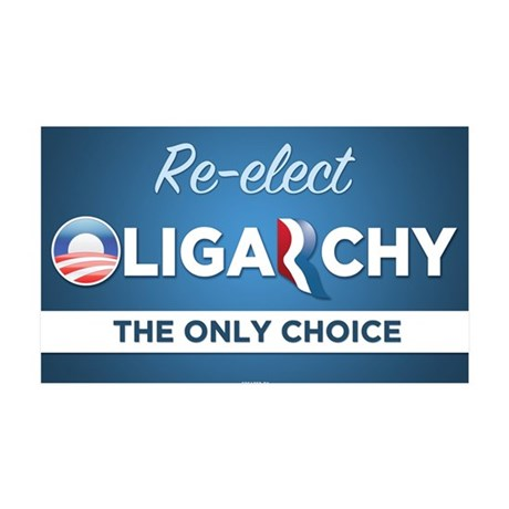 Re-elect Oligarchy 38.5 x 24.5 Wall Peel