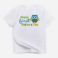 Boy Owl Happy 1st Fathers Day Infant T-Shirt