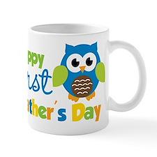 Boy Owl Happy 1st Fathers Day Mug