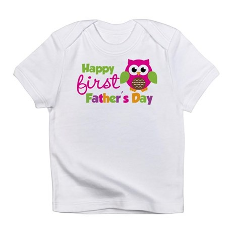 Girl Owl Happy 1st Fathers Day Infant T-Shirt