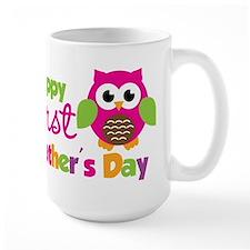 Girl Owl Happy 1st Fathers Day Mug