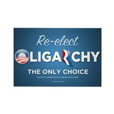 Re-elect Oligarchy Rectangle Magnet (100 pack)