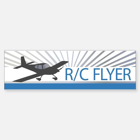 RC Flyer Low Wing Airplane Sticker (Bumper)