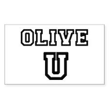 Olive U Decal