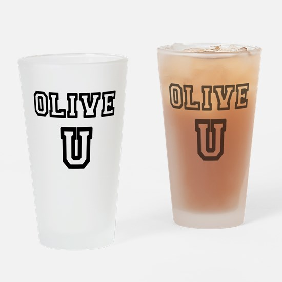 Olive U Drinking Glass