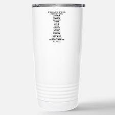 feel free.png Travel Mug