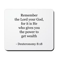 Deuteronomy 8:18 Mousepad