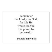 Deuteronomy 8:18 Postcards (Package of 8)