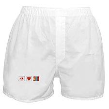 Peace, Love and Mongolia Boxer Shorts