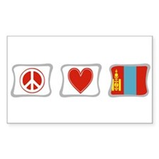 Peace, Love and Mongolia Decal