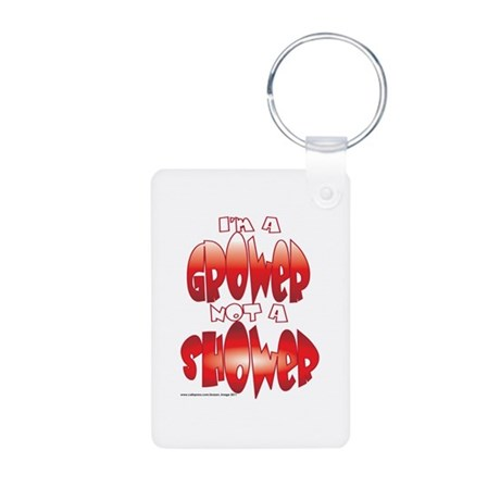 grower.png Aluminum Photo Keychain