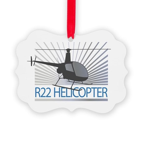 Aircraft R22 Helicopter Picture Ornament