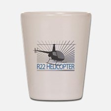 Aircraft R22 Helicopter Shot Glass