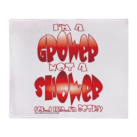 grower_shower_both.png Throw Blanket