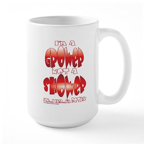 grower_shower_both.png Large Mug