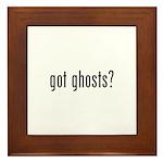 got ghosts Framed Tile