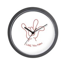 """I Love You Mom"" Sign Language Wall Clock"