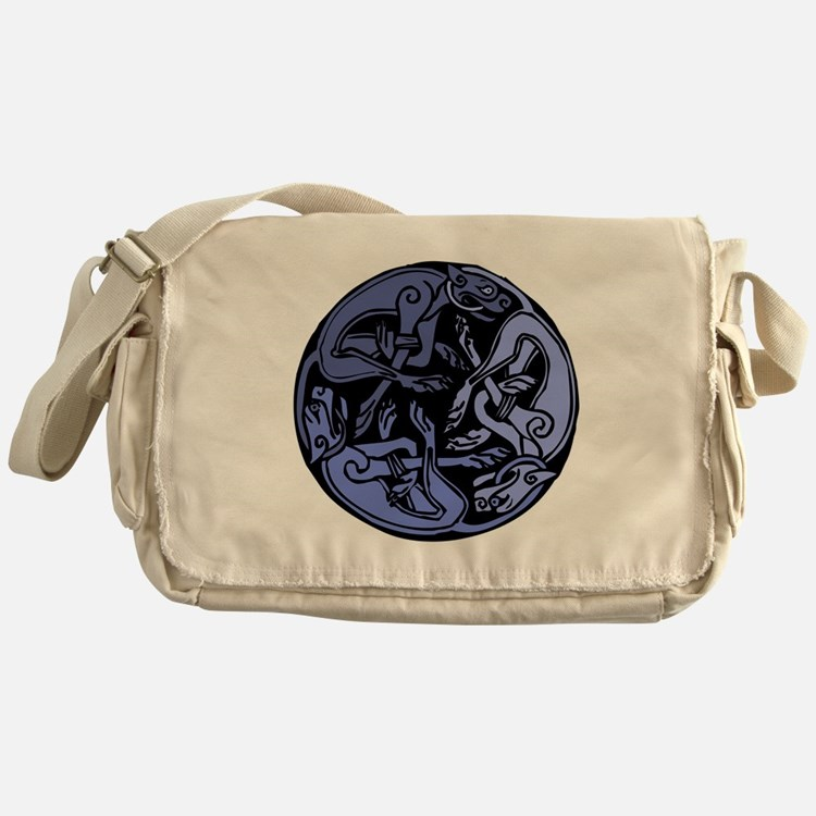 Celtic Chasing Hounds 1b Messenger Bag