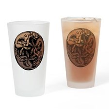 Celtic Chasing Hounds 1c Drinking Glass