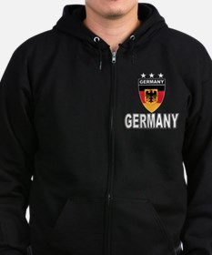 Germany World Cup Soccer Zip Hoodie