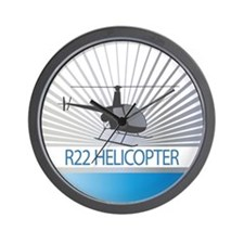 Aircraft R22 Helicopter Wall Clock