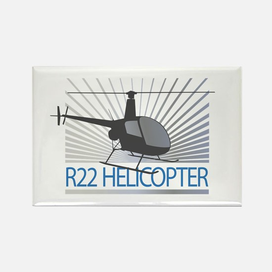 Aircraft R22 Helicopter Rectangle Magnet