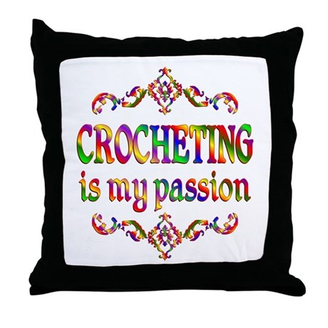 Crocheting Passion Throw Pillow