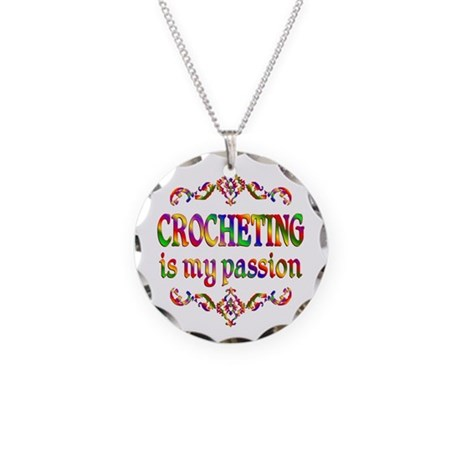 Crocheting Passion Necklace Circle Charm