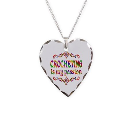 Crocheting Passion Necklace Heart Charm