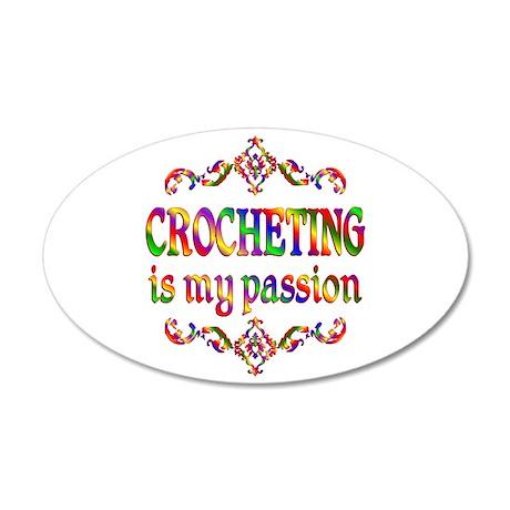 Crocheting Passion 38.5 x 24.5 Oval Wall Peel