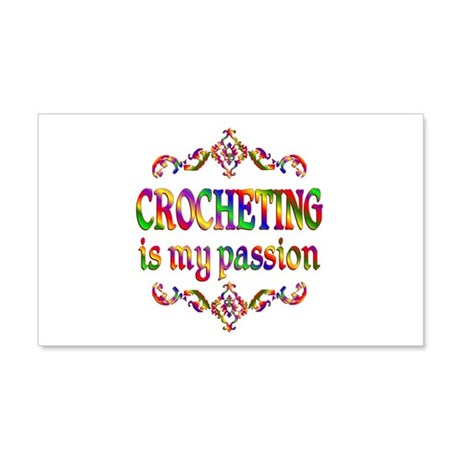 Crocheting Passion 22x14 Wall Peel