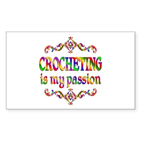 Crocheting Passion Sticker (Rectangle)