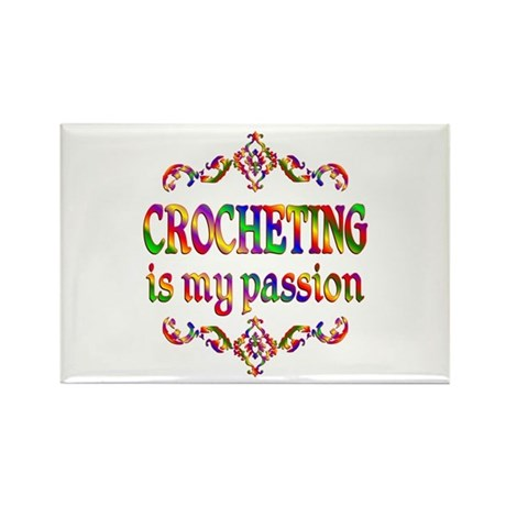 Crocheting Passion Rectangle Magnet (10 pack)