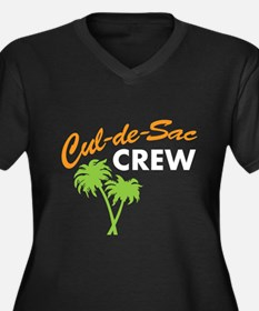 cul-de-sac crew Women's Plus Size V-Neck Dark T-Sh