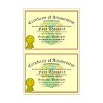 Certificate of Achievement - 4000 (Double