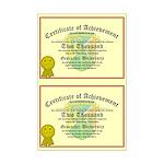 Certificate of Achievement - 2000 (Double