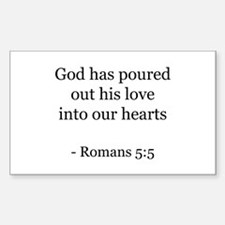 Romans 5:5 Rectangle Decal